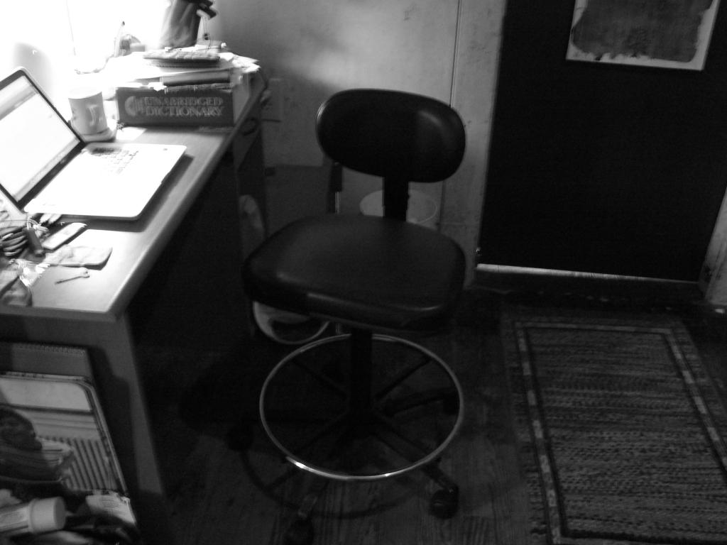My teller's chair.